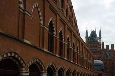 St Pancras railway station in London