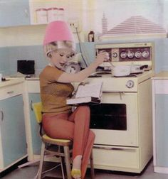 2) Multi tasking   --How to multi task!! Remember doing that. Notice the stirrup pants.