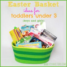 Want the BEST Easter basket ideas for toddlers? I've got them! I've got a full list of non-candy ideas and more for your little ones.