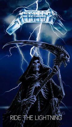 Ride the Lightning Heavy Metal Rock, Heavy Metal Music, Heavy Metal Bands, Hard Metal, Metallica Albums, Metallica Art, Metal Music Bands, Metal Songs, Pop Rock