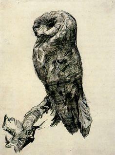 Vincent van Gogh - barn owl