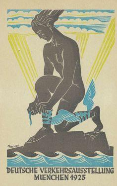 """c86: """" Deutsche Verkehrsausstellung München 1925 Artwork by M. Eschle """""""