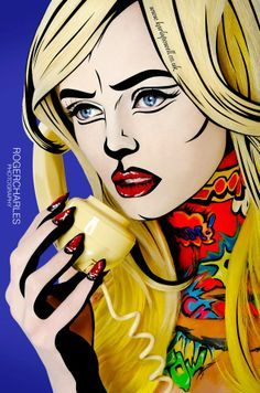 Comic Book and Pop Art Style Makeup, by photographer Roger Charles