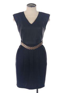 Little Black Leather Mini Dress