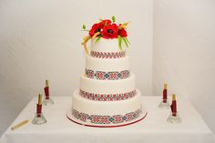 tort de nunta traditional - Căutare Google Romanian Wedding, Food Inspiration, Wedding Cakes, Wedding Planning, Sweets, Traditional, Wedding Stuff, Popular, Weddings