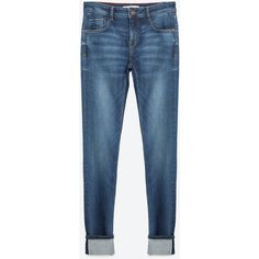 Zara Selvedge Special Edition Jeans (€62) via Polyvore featuring jeans, blue jeans and zara jeans