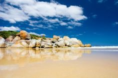 Photo about Large Rocks on a beach at Wilsons Prom. Image of bush, seascape, scenic - 4349121 Places To Travel, Places To Go, Bali, Wilsons Promontory, Image Rock, Travel Blog, Hotel Website, Melbourne Victoria, Cheap Hotels