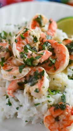 Cilantro Lime Shrimp with Coconut Rice