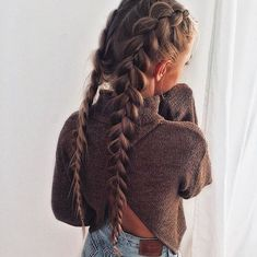 33 Coole Zöpfe Festival Frisuren, Hobo-Haare, # cool Braids two 33 Coole Zöpfe Festival Frisuren My Hairstyle, Braided Hairstyles, Trendy Hairstyles, Hairstyle Ideas, Long Haircuts, Hairstyles Tumblr, French Plait Hairstyles, Ladies Hairstyles, Makeup Hairstyle