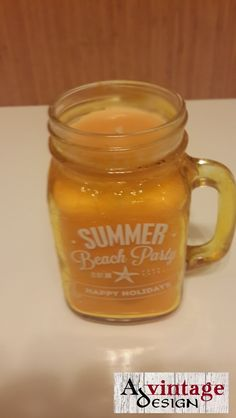 Jar candle with orange scent
