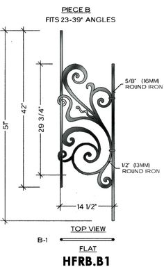 Cheap Stair Parts - Rebecca B1 - 23-39 Angled