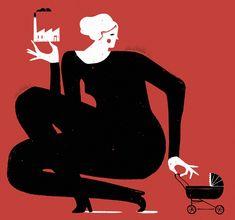 Iker Ayestaran: ilustrazioa, ilustración: mujer trabajo