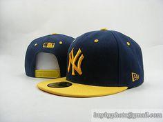 MLB Baseball NEW YORK Yankees NY Snapback Hat Cap Navy/Yellow