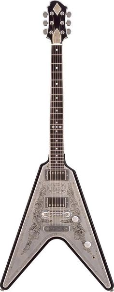 Hetfield's Zemaitis Flying V guitar