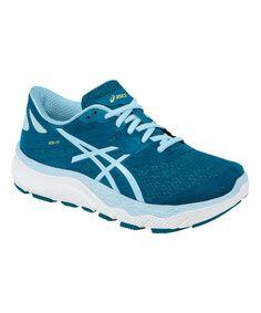 Look at this #zulilyfind! Moss Blue & White 33-M Running Shoe #zulilyfinds