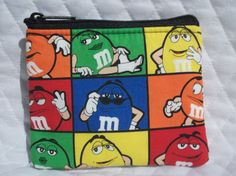 M&M Candy character print coin bag Mars Candy Company, M&m Characters, M M Candy, Candy Companies, Coin Bag, Favorite Candy, Recipe Collection, Sewing Projects, Shopping
