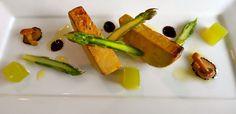 Parade Ring, Ascot: Seared foie gras, asparagus gelée, fleur de sel,  extra virgin olive oil, black truffle juice