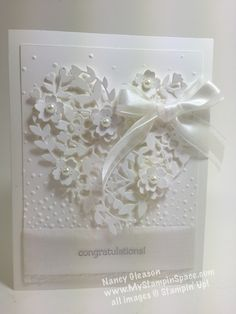 bloomin hearts thinlits die, bridal, white on white