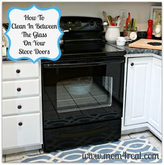 I always wondered how to do this!! How To Clean An Oven Door In Between The Glass!  - Mom 4 Real