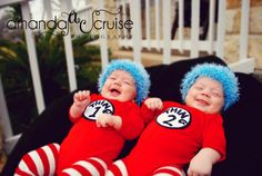 As if I didn't already want twins bad enough, this just gives me another reason to want them even more! We've decided that if we have twins, we're going with a Dr. Seuss theme. I mean, how awesome would it be to have our very own Thing 1 & Thing 2? Now, lets just hope that if we do, their not as hyper as the real ones, lol!