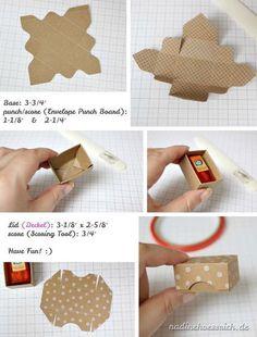 Tutorial für eine Mini-Box (ein Küsschen, ein Mon Cherie oder ein Mini-Tic Tac) von nadinehoessrich.de