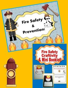 TeacherLingo.com $2.00 - This Fire Safety resource includes a PowerPoint all about Fire Safety & Prevention with bright and colorful graphics and written in an easy to understand way, a Fire Safety Mini Booklet in which the students will use what they learned from the slideshow to