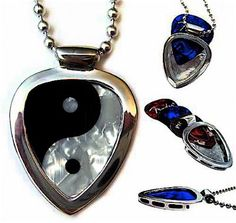 Pickbay guitar pick holder pendant with the Ying Yang balance guitar pick set. #pickbay #balancegift #yingyanggift