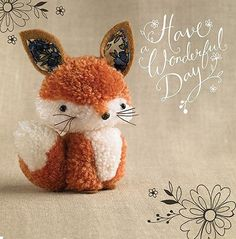 """Fox """"Tiddly pom pom"""" by Eleri Fowler. This cute little pom pom fox is just one character from the family of teeny pom pom animals, produced for a brand new greetings card range for Paper Rose. Cute Crafts, Diy And Crafts, Crafts For Kids, Arts And Crafts, Pom Pom Crafts, Yarn Crafts, Easter Crafts, Christmas Crafts, Pom Pom Animals"""