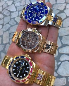 Week🔚 🍾 🔸🔹🔻Rolex GMT, Daytona & Submariner🔻🔹🔸 What's your Choice for the Weekend?!?😉 By: @timeapp_milano