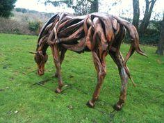 DRIFTWOOD HORSES   Driftwood 'War' Horse   'Dreamwall Style Blog'