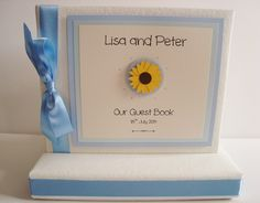 Sunflower wedding guest book - perfect for summer weddings www.ohsopurrfect.co.uk