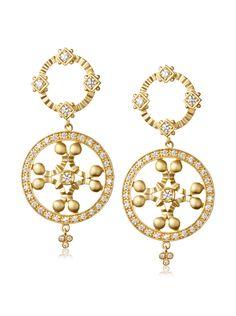 Freida Rothman YZE020021B Round Drop Earrings, Gold at MYHABIT