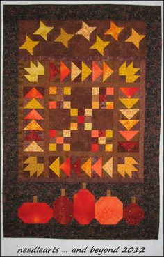 thanksgiving day quilts | fall frolic quilt top not quilted 11nov2012