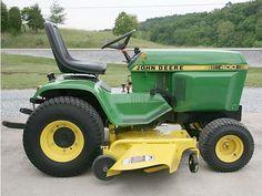 Miami Home & Garden Small Tractors, Compact Tractors, John Deere Garden Tractors, Lawn Tractors, John Deere 400, Garden Tractor Attachments, Types Of Lawn, John Deere Equipment, Tractor Pulling