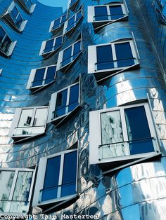 Neuer Zollhof building, Dusseldorf, Germany by Frank Gehry Architect