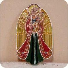 1979 Tiffany Angel Tree Topper - X, Hallmark Christmas Ornaments, Christmas Tree Toppers, Christmas Presents, Tiffany, Garlands, Crosses, Nativity, Angels, Artist