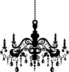 Chandelier Clipart Silhouettes, Silhouette Clipart