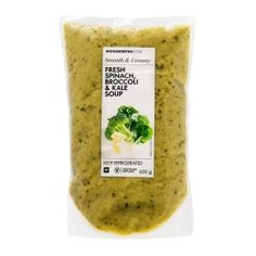Fresh Spinach, Broccoli & Kale Soup 600g   Woolworths.co.za Kale Soup, Creamy Spinach, Food Preparation, Broccoli, Label, Meals, Fresh, Meal, Food