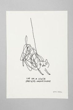 cat on a leash - gemma correll- love this!