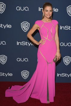 Maria Menounos was pretty in pink at the Golden Globes afterparty