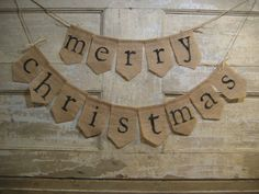 Ready to Ship Merry Christmas Banner by IchabodsImagination, $25.00