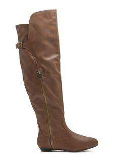 bff4294352b Strut Ur Stuff Over-The-Knee Boots CHESTNUT BLACK TAUPE - GoJane.com