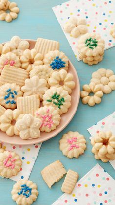 Cooking Cookies, Cookie Desserts, Cookie Recipes, Dessert Recipes, Spritz Cookies, Cake Cookies, Cupcakes, Princesse Party, Superman Cakes