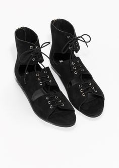 & Other Stories | Lace-Up Suede Sandals