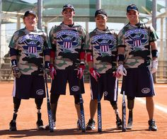 so proud of and thankful for Matt and all these boys!! Wounded Warrior Amputee Softball Team.