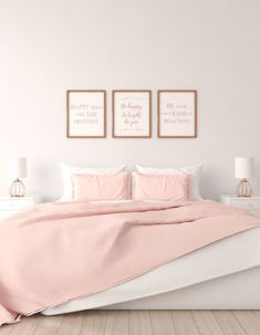 Using gorgeous rose gold wall art to bring rose gold accent into this beautiful bedroom. Rose Gold Wall Art, Rose Gold Table, Rose Gold Decor, Gold Bedroom Decor, Home Wall Decor, White Bedroom, Bedroom Ideas, Rose Gold Bedroom Accessories, Rose Gold Picture Frame