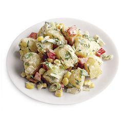 Southwestern-Style Potato Salad ❤ liked on Polyvore featuring food