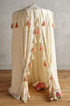 Fanciful Play Tent would be dreamy hanging from a tree outside Cumpleaños Shabby Chic, Bebe Love, Play Kitchens, Little Girl Rooms, Kid Spaces, Kids Bedroom, Baby Room, Playroom, Decoration