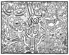 The Marriage of Heaven and Hell, 1984  Keith Haring