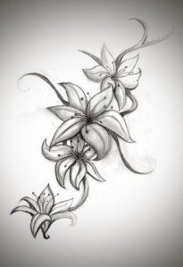 lily tattoo - I really like the black, gray details. - lily tattoo – I really like the black, gray details. Stargazers are my favorite … – lily tat - Tattoo Lily, Water Lily Tattoos, Lily Tattoo Design, Lily Flower Tattoos, Flower Tattoo Drawings, Flower Tattoo Designs, Tattoo Sketches, Tattoo Art, Cover Up Tattoos
